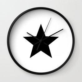 Black Stars Wall Clock