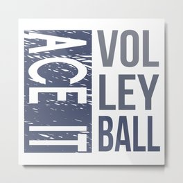 Ace It Volleyball (blue) Metal Print