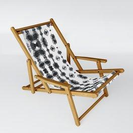 Shibori Ikat Habotoi BW Sling Chair