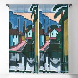 Oscar Florianus Bluemner - Old Canal Port Blackout Curtain