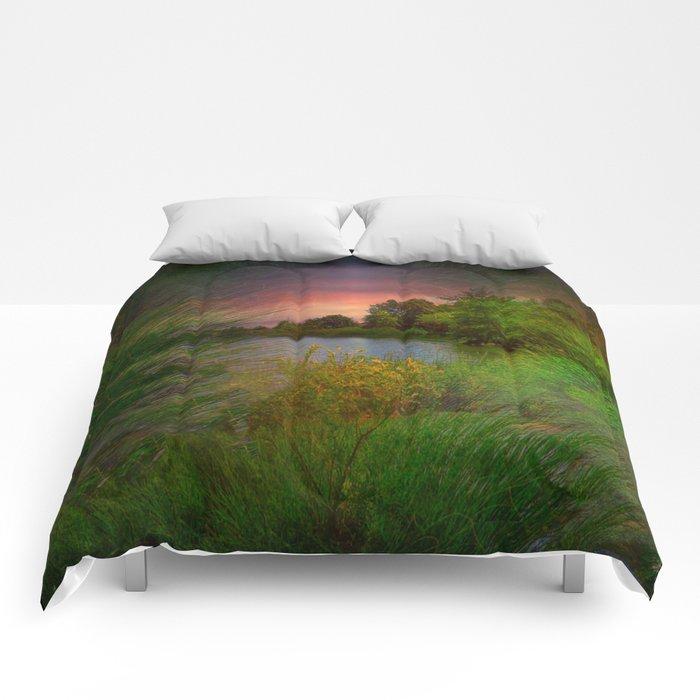 Sunset On The Lagoon Comforters