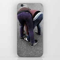 butt iPhone & iPod Skins featuring Butt by villageidiot4ever