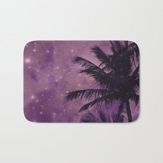 Purple Sky Palm Bath Mat