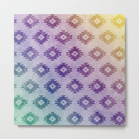 Aztec Pattern 06 Metal Print