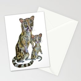 Cute Genets  Stationery Cards