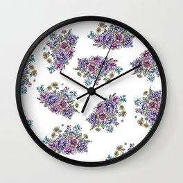 Mini Vintage Flowers Wall Clock