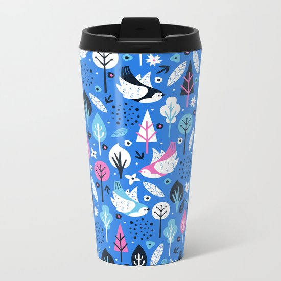 Flying Birds Metal Travel Mug