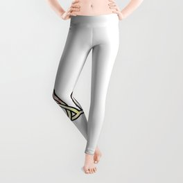 Abstract Celtic Trinity Knot Triquetra with Circle Pastel Style Design Leggings