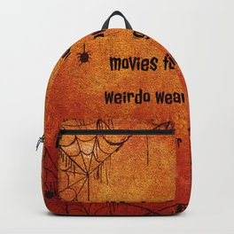 I've seen enough horror movies to know that any weirdo wearing a mask is never friendly. Backpack