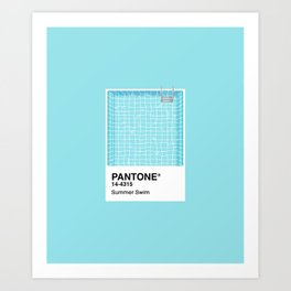Pantone Series – Summer Swim Art Print