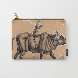 Teatime with waterbuffalo and genet Carry-All Pouch