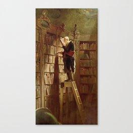 """The Bookworm"", 1850 Canvas Print"