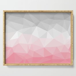 pink and grey polygon 2018 Serving Tray