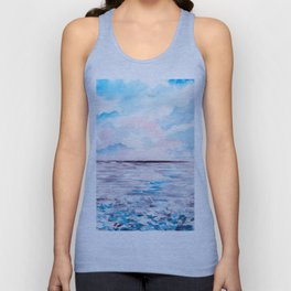 Abstract seaview Unisex Tank Top