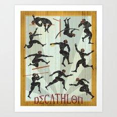 Decathlon Vertical Poster Art Print