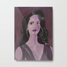 Purple lady Metal Print