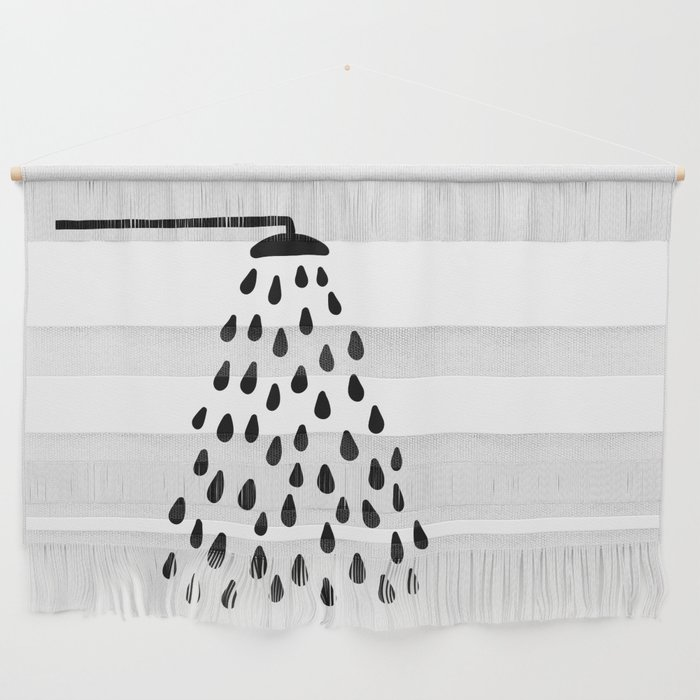 Shower in bathroom Wall Hanging
