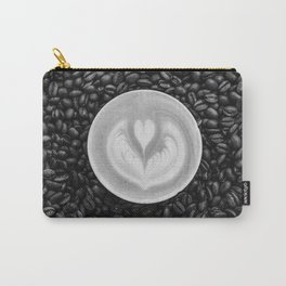 Coffee Beans (Black and White) Carry-All Pouch