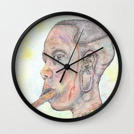 Mursi Woman Wall Clock
