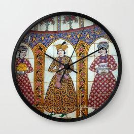 Persian Noblemen Mosaic Qavam House Facade, Shiraz, Iran Wall Clock