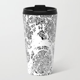 Moscow Map Schwarzplan Only Buildings Travel Mug