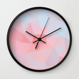 Sunrise Clouds Low Poly Wall Clock