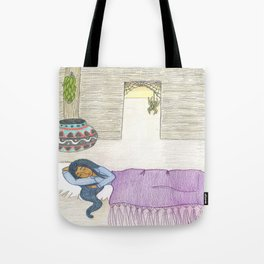 Sleeping Girl Tote Bag