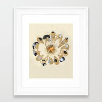 kozyndan Framed Art Prints featuring Finding Warmth Together by kozyndan