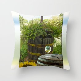 Sunday Sipping Throw Pillow