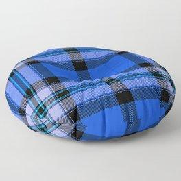 Argyle Fabric Plaid Pattern Blue and Black Floor Pillow