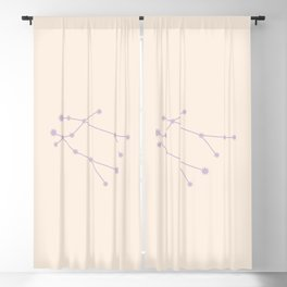 Gemini Zodiac Constellation Mauve Blackout Curtain