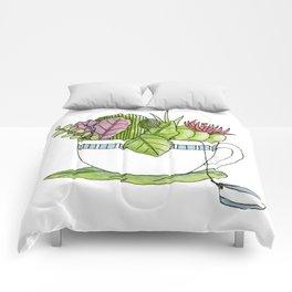 Succulent Tea Comforters