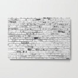 Withe brick wall Metal Print