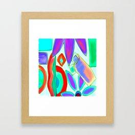 Summer Abstract Digital Painting Framed Art Print
