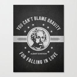 Albert Einstein - Dark Canvas Print