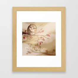 Owl love you Framed Art Print