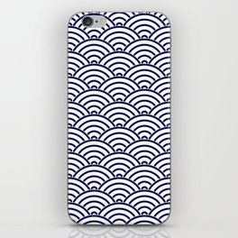 Japanese Koinobori fish scale Delft Blue iPhone Skin