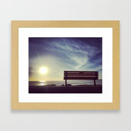 Sunset on Coronado Beach, California Framed Art Print