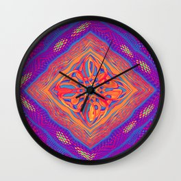 Colourful Weave Wall Clock