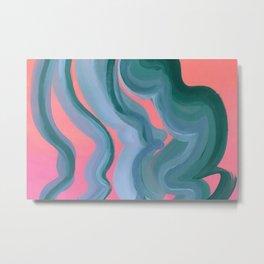 Funny swirls Metal Print