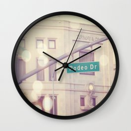 Rodeo Drive  Wall Clock