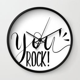 You rock! The best Calligraphy text gift idea products  Wall Clock