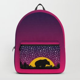 Bear Stars Moon Backpack
