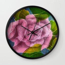 Mauve Rose at Dusk Wall Clock