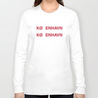 copenhagen Long Sleeve T-shirts featuring COPENHAGEN by eyesblau