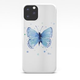 Blue Butterfly Watercolor iPhone Case