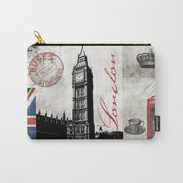 London Collage Carry-All Pouch
