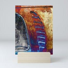 Rusted Classic Minivan Mini Art Print