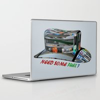 pocket fuel Laptop & iPad Skins featuring Need Some Fuel ? by Avigur