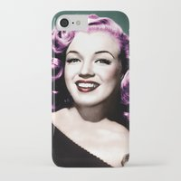 rockabilly iPhone & iPod Cases featuring Rockabilly Marilyn by Tamsin Lucie